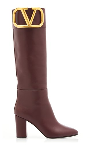 Valentino Garavani Supervee Leather Knee-High Boots