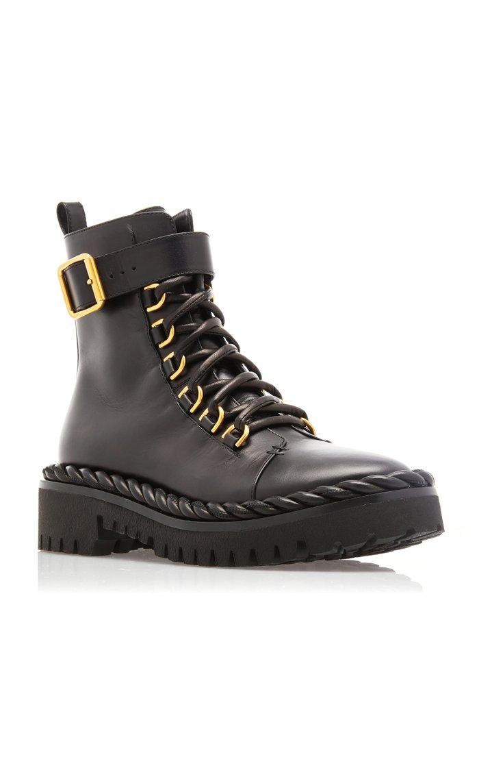 Valentino Garavani Leather Combat Boots