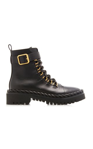 Valentino Garavani Rope Leather Combat Boots