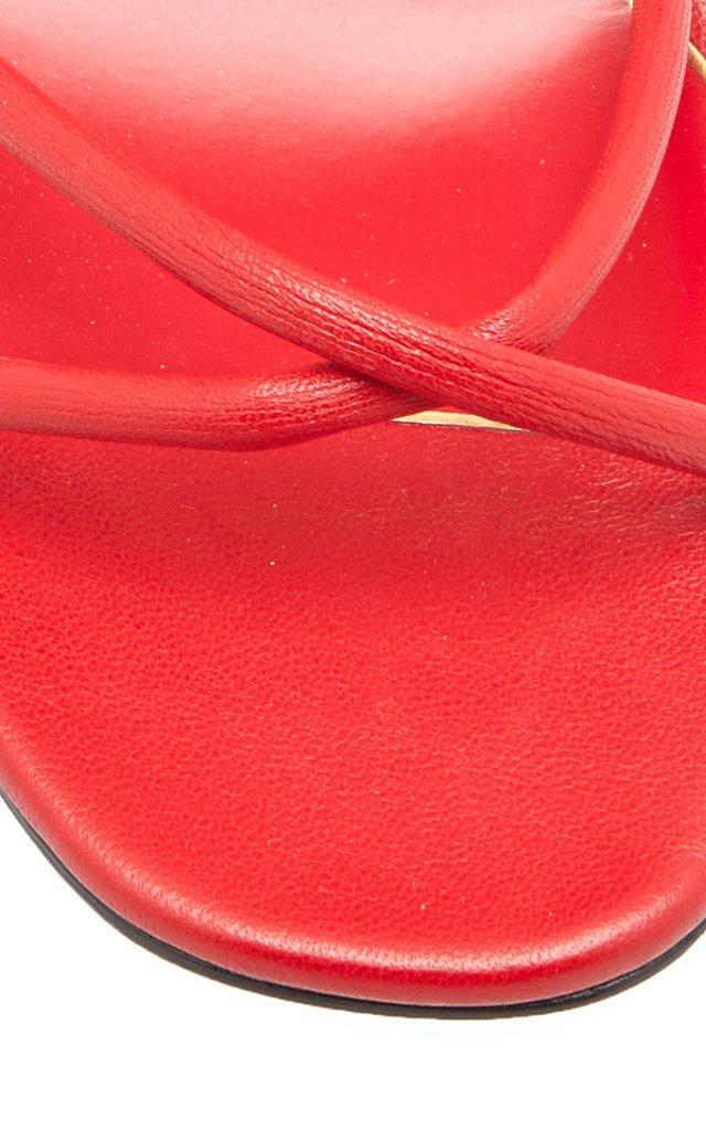 Valentino Garavani Upflair Feather-Embellished Leather Sandals