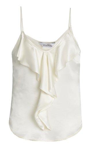 Edile Ruffled Silk Camisole