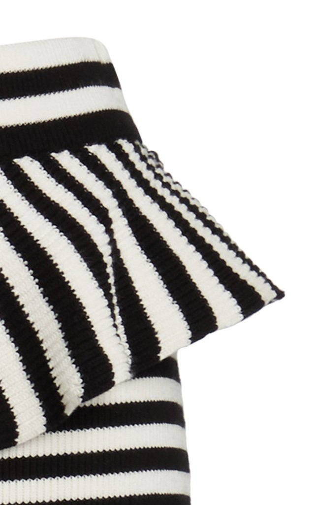 Faesite Striped Knitted Jersey Pencil Skirt