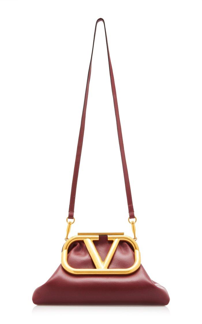 Valentino Garavani Supervee Logo Leather Clutch