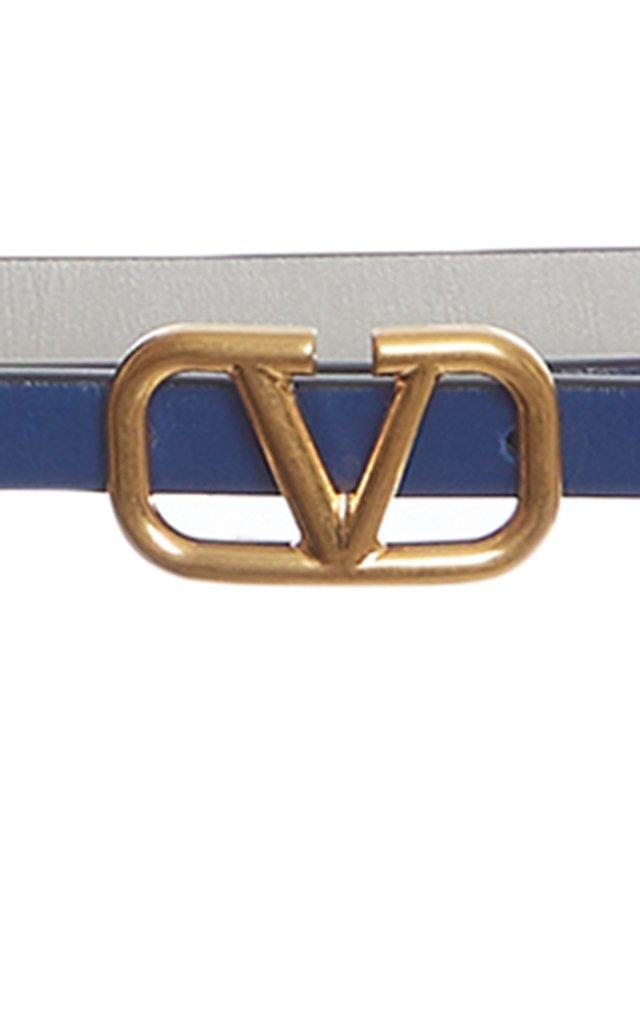 Valentino Garavani Embellished Leather Belt