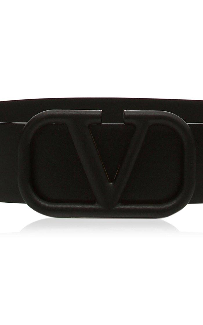 Valentino Garavani VLogo Leather Waist Belt