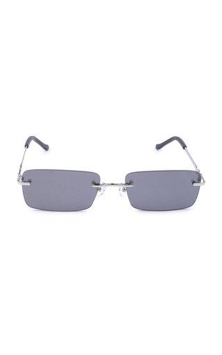 Karen Wazen Layla Square-frame Metal Sunglasses In Orange