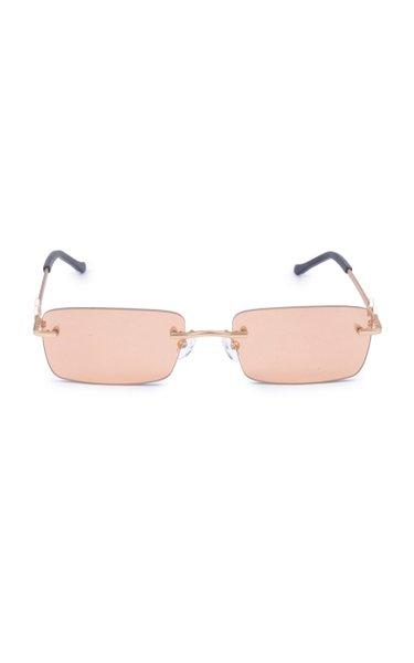 Layla Square-Frame Metal Sunglasses