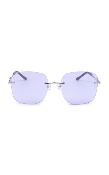 Madison Oversized Square-Frame Metal Sunglasses