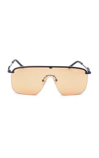 Karen Wazen Amira Aviator-style Metal Sunglasses In Brown