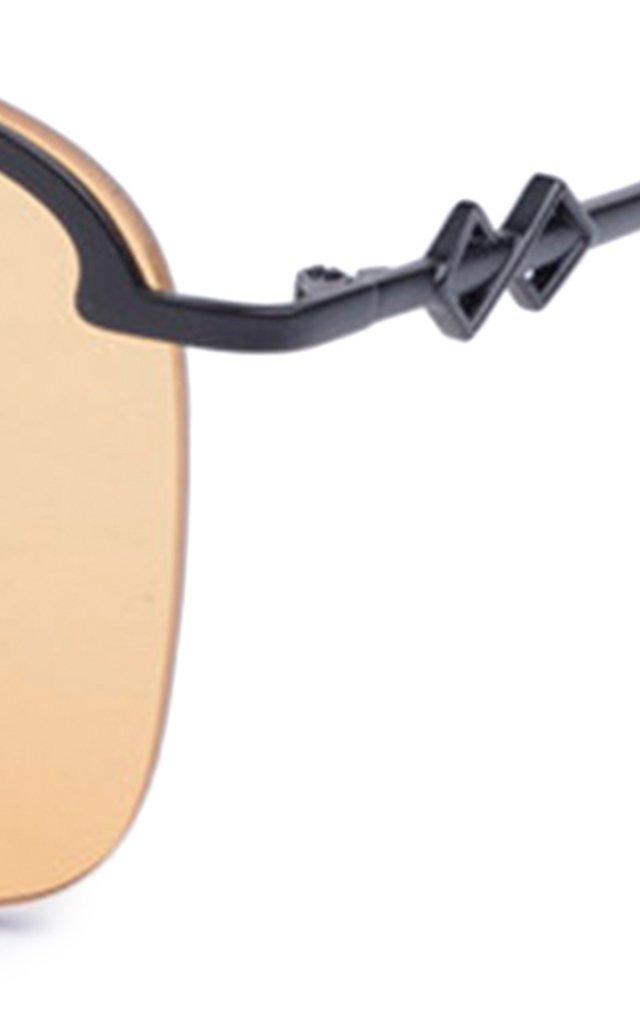 Amira Aviator-Style Metal Sunglasses