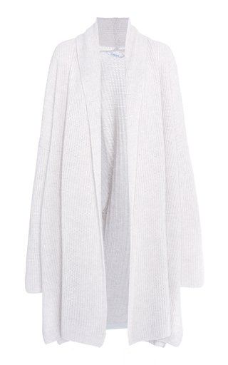 Cashmere-Cotton Ribbed Cardigan