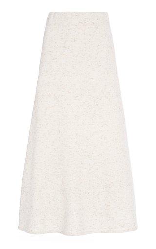 Cashmere-Blend A-Line Skirt