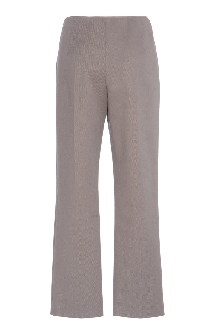 Cotton-Twill Stretch Cropped Pants
