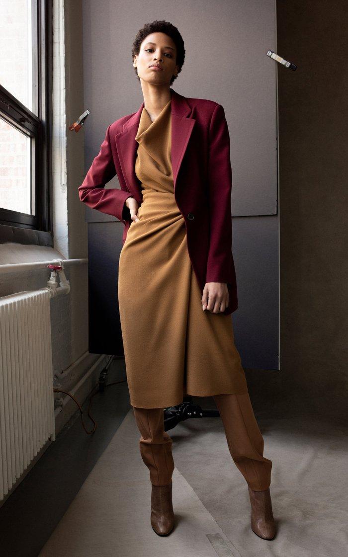 Wool Crepe Knot Dress