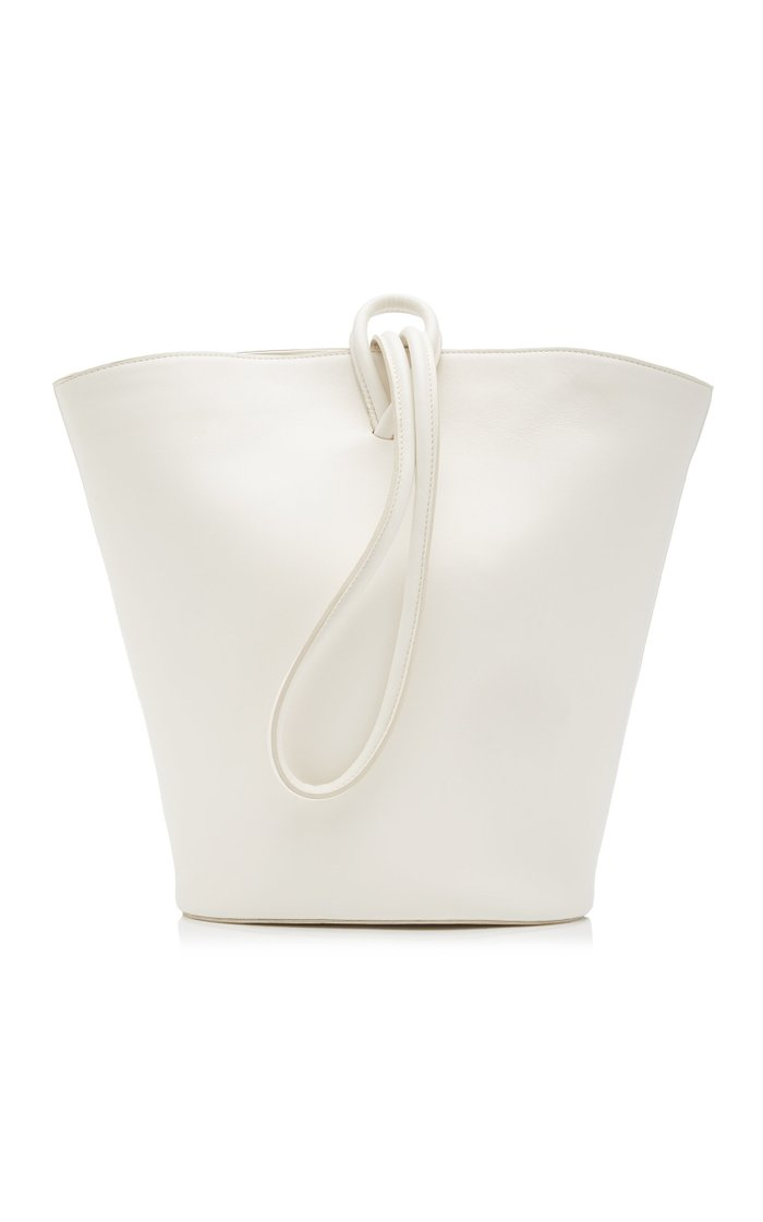 Medium Loop Leather Bucket Bag