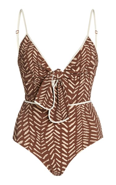 Escape To The Oasis Tie-Front Swimsuit