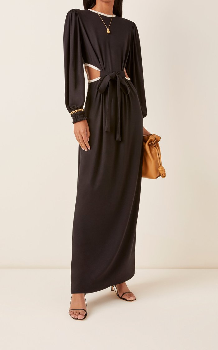 Straight To The Moon Cutout Jersey Maxi Dress