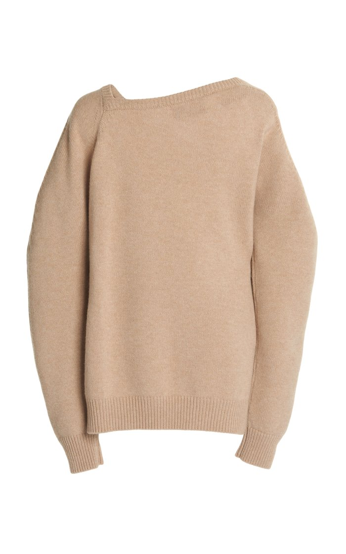 Open-Neck Wool and Cashmere Sweater