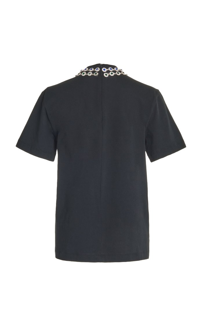 Crystal-Embellished Cotton T-Shirt