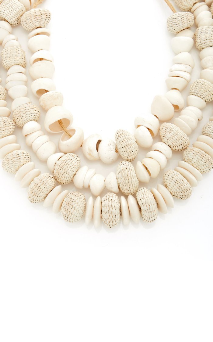 Sahara Nights Bone and Shell Necklace