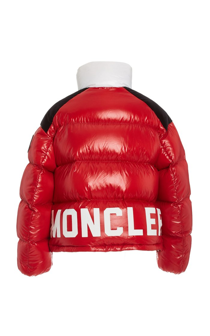 Chouelle Logo-Print Down Puffer Varsity Jacket
