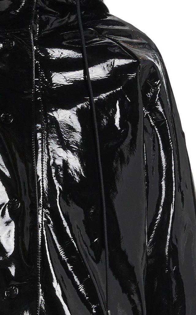 Pott Hooded 3-In-1 Coated-Vinyl Down Raincoat