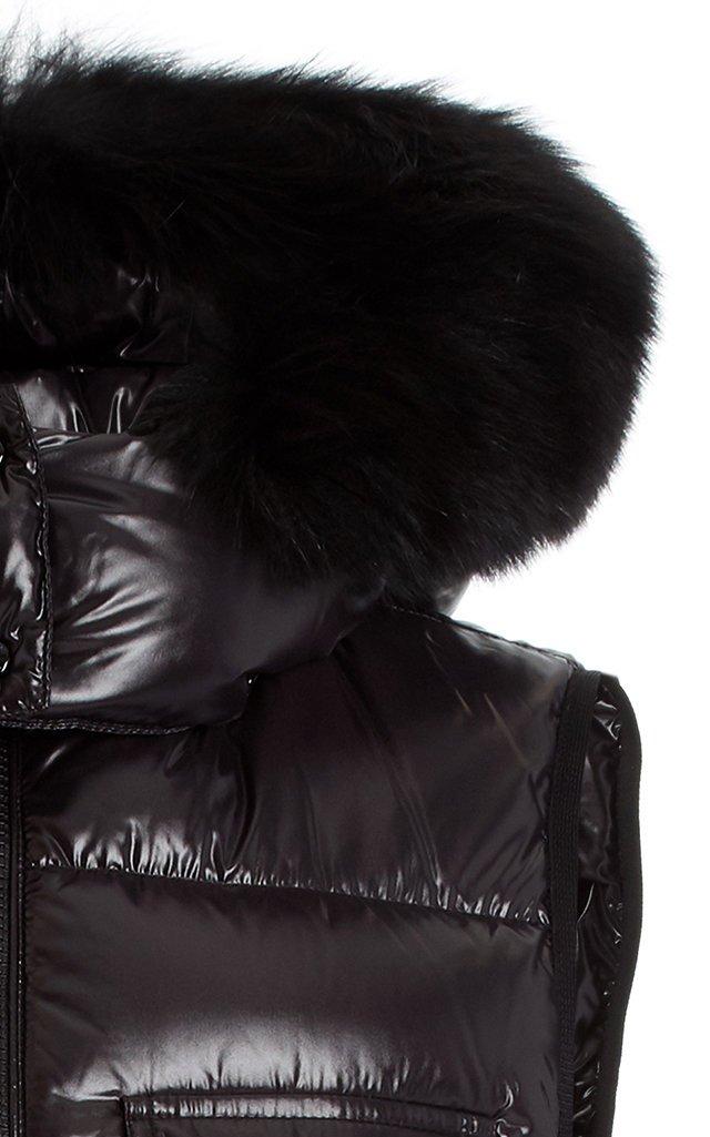 Balabio Fur-Trimmed Down Puffer Vest