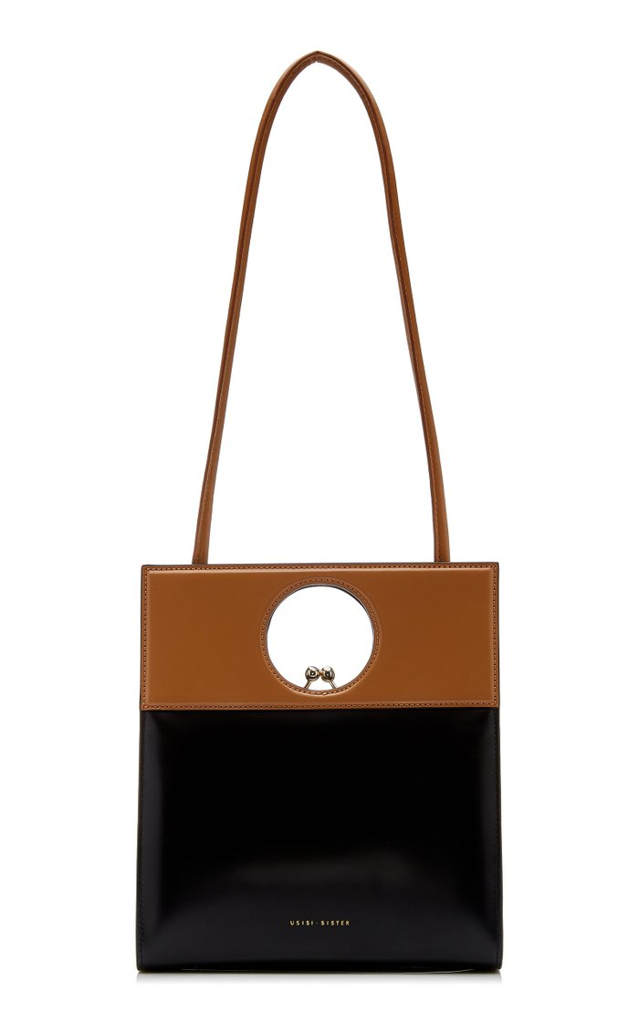 Eddie Two-Tone Leather Top Handle Bag