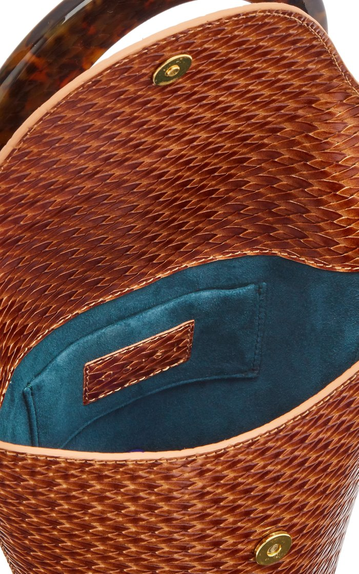 Consti Woven Leather Top Handle Bag