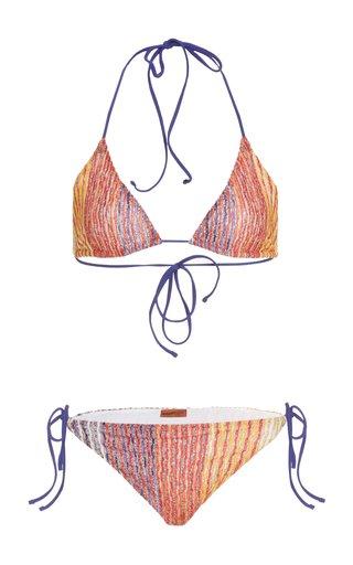 Metallic-Knit Bikini