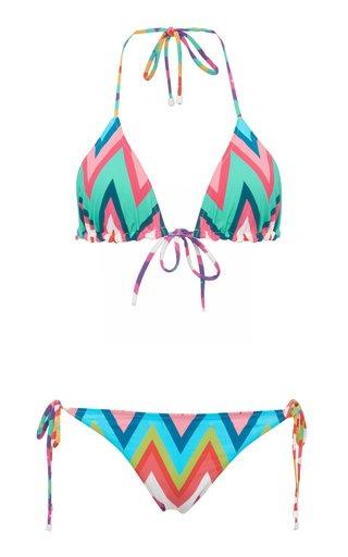 Chevron-Print Bikini Set