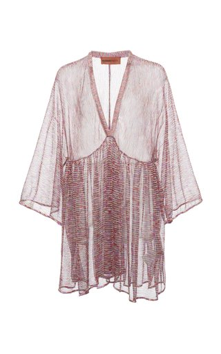 Printed Knit Cover-Up Mini Dress