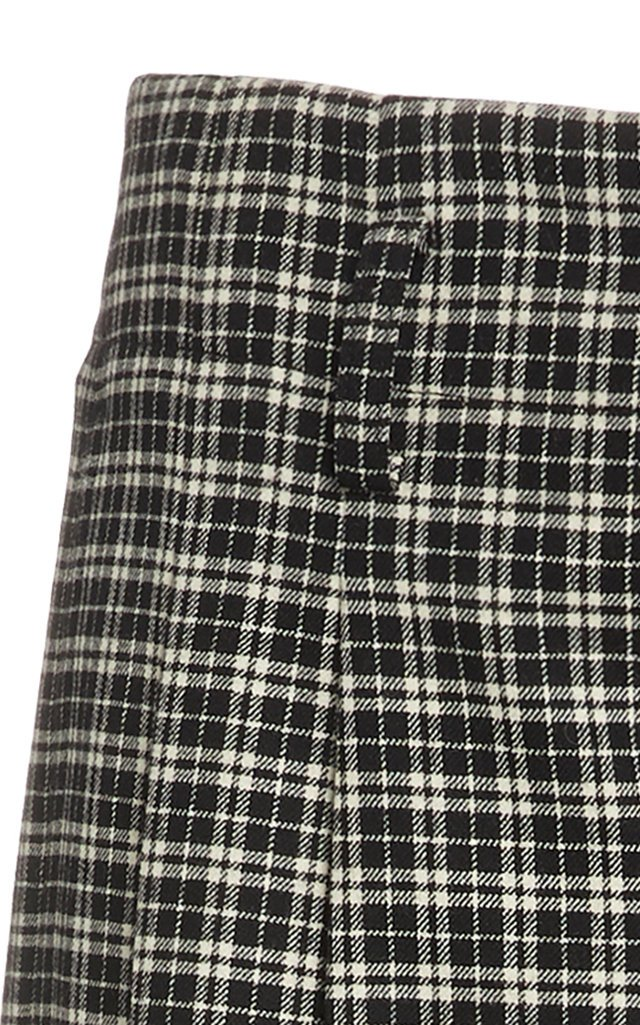 Cropped Tartan Pants