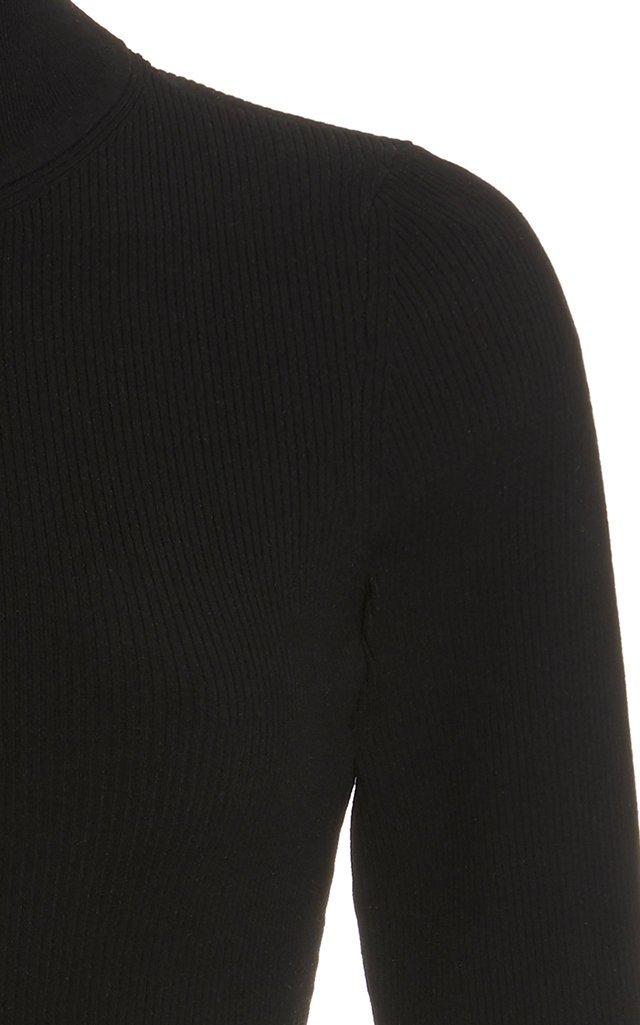 Crepe Turtleneck Bodysuit