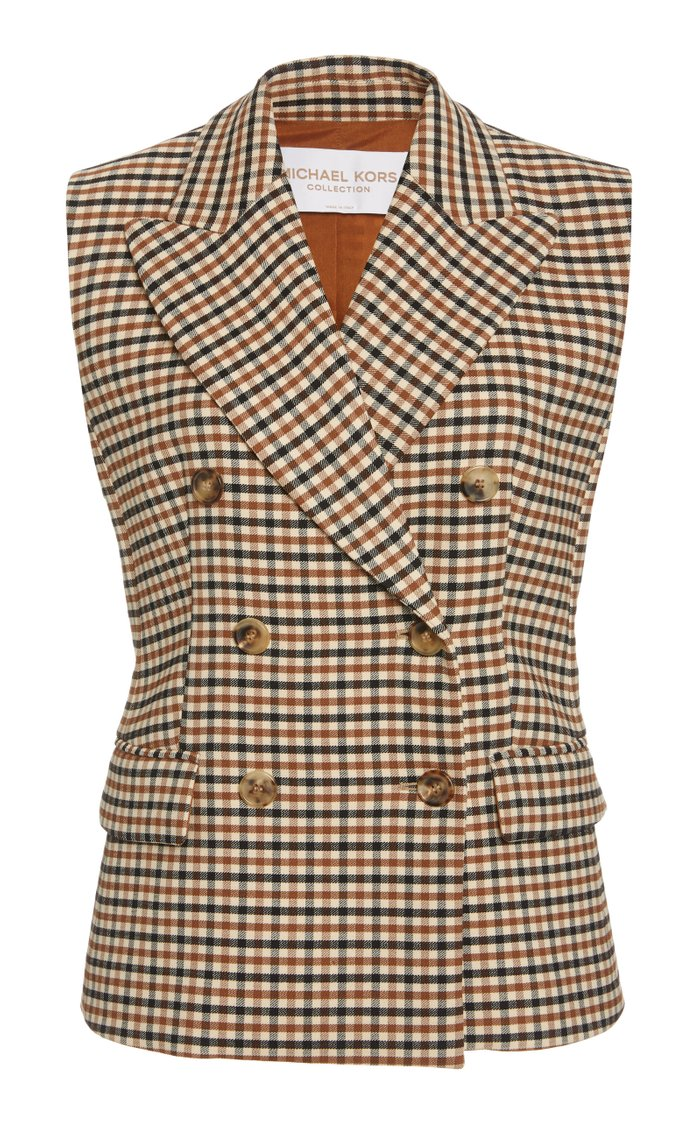 Double-Breasted Gabardine Vest