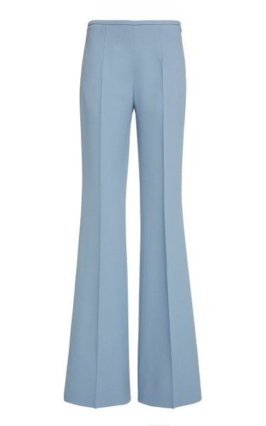 High-Rise Flared Crepe Pants