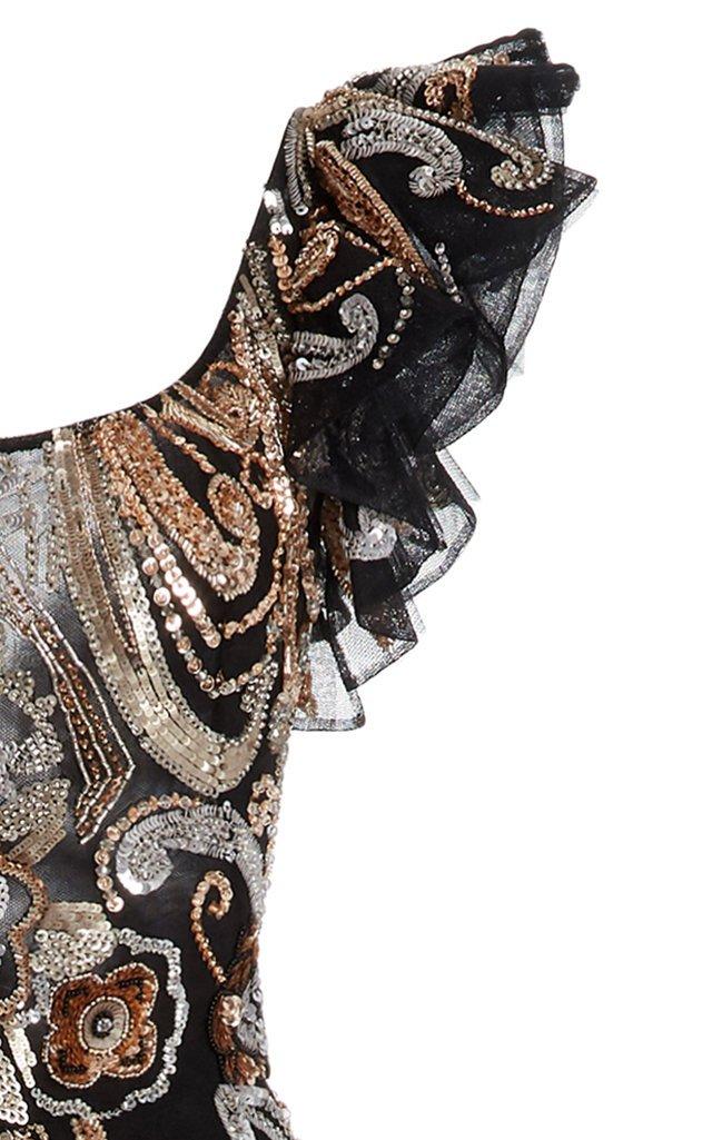 Baker Sequined Chiffon Maxi Dress