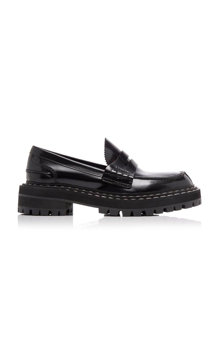 Platform Leather Penny Loafers