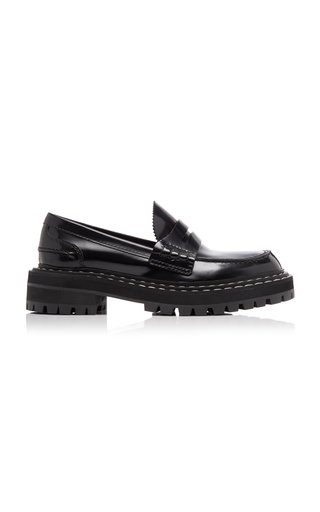Platform Leather Penny Loafers