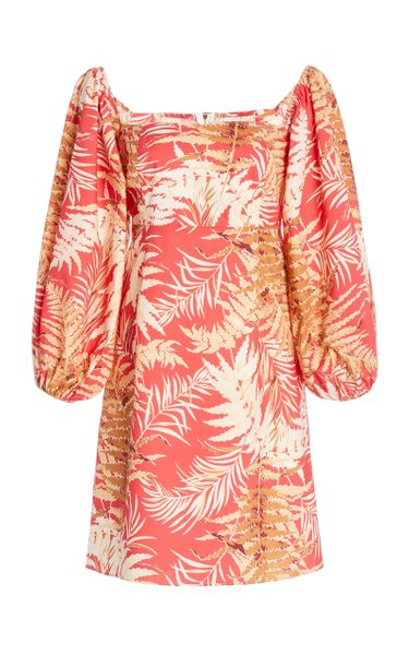 Montauk Printed Cotton-Poplin Mini Dress