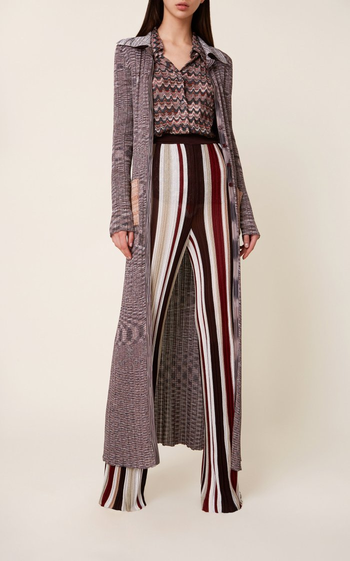 Laura Striped Knit Flared Pants