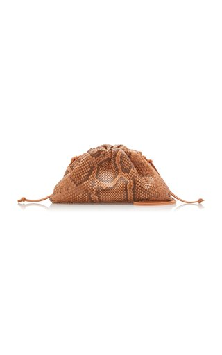 The Mini Pouch Python Leather Clutch