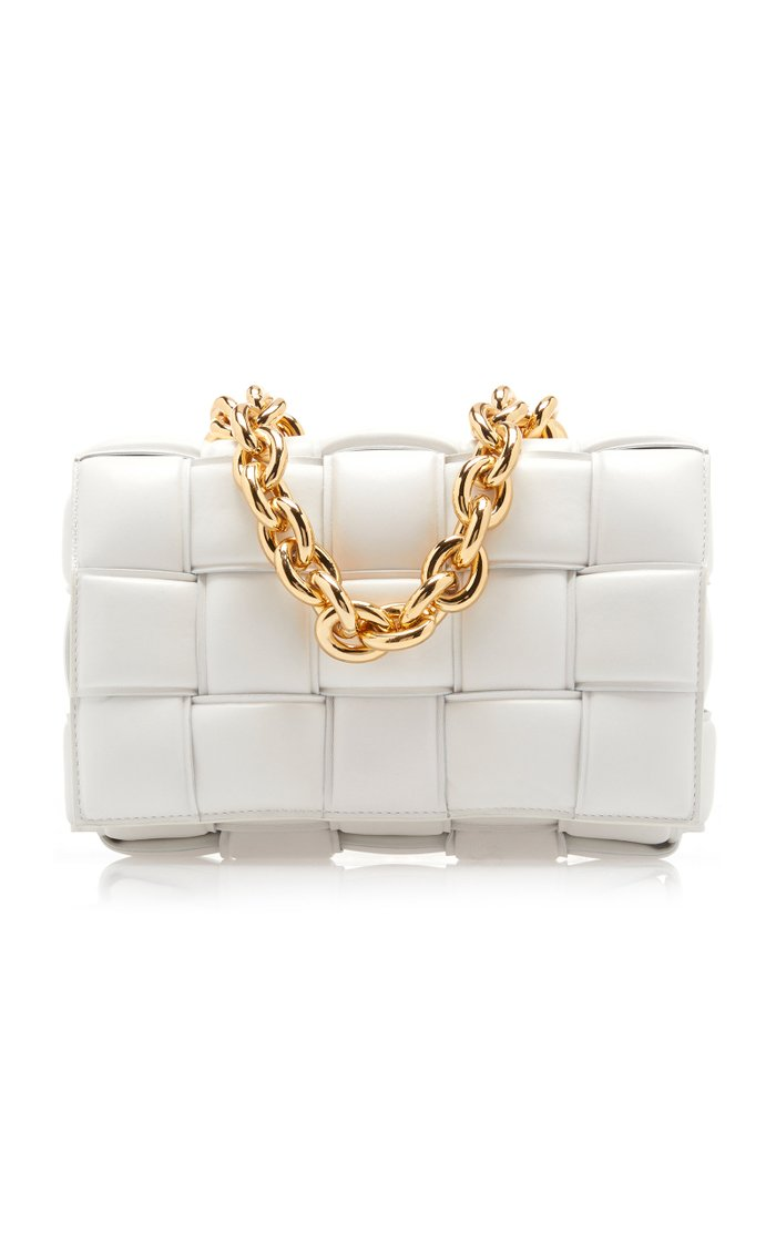 The Chain Cassette Padded Leather Crossbody Bag