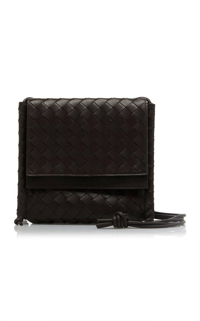Braided Leather Crossbody Bag