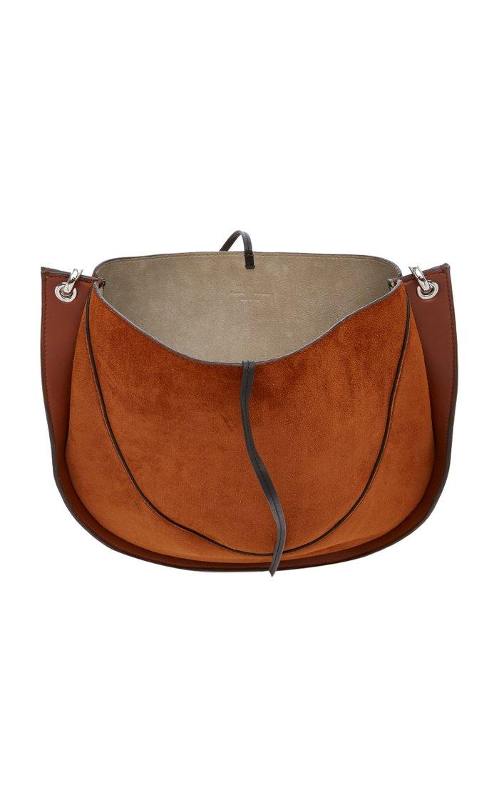 Arch Suede Shoulder Bag