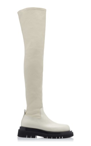 The Tire Over the Knee Leather Boots
