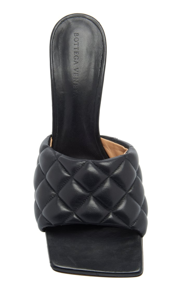 Padded Leather Mules