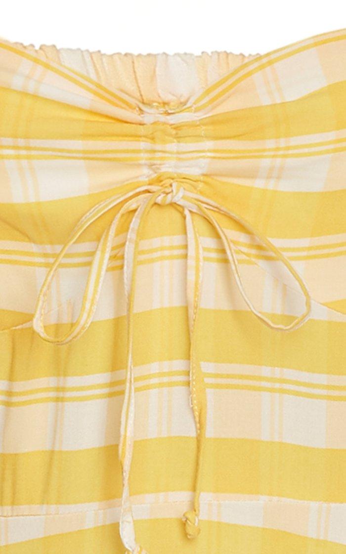 Juniper Check Print Midi Dress
