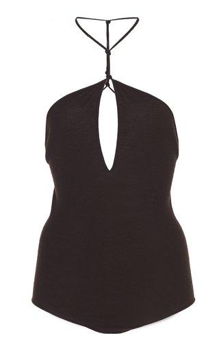 Halterneck Cashmere-Blend Bodysuit