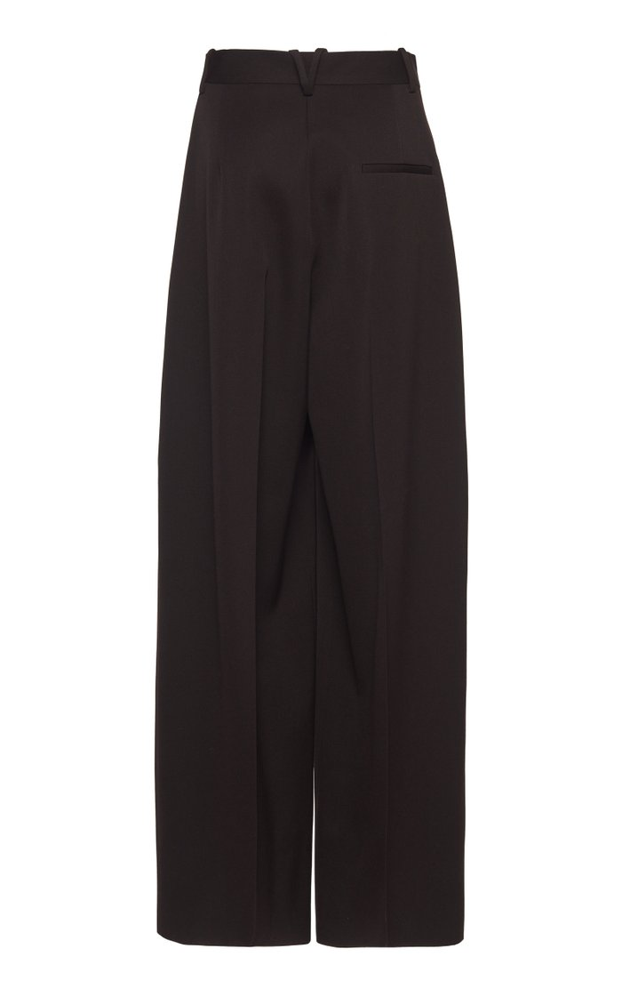 Wide-Leg Wool Trouser